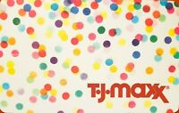 TJMAXX MARSHALLS HOMEGOODS COLLECTIBLE GIFT CARD - Rainbow Polka Dots - $0 VALUE