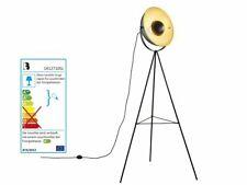 LIVARNO LUX LED Retro-Stehleuchte 42cm Durchmesser Gold Schwarz