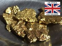 Gold Nuggets 5x High Purity 21-23kt Pure Genuine Alaskan Approx 3.0mm- 5.0mm UK