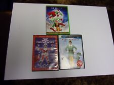 ELF/ CHRISTMAS VACATION/ THE GRINCH THAT STOLE CHRISTMAS   DVD LOT OF 3