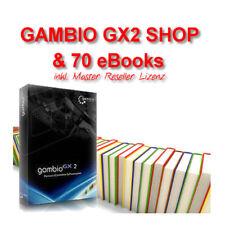 GAMBIO GX2 SHOP + 70 eBooks inkl. Master Reseller Lizenz