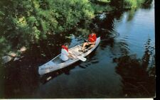 OAKLAND COUNTY,MICHIGAN-TRANQUIL MOMENTS-COUPLE IN CANOE-(MICH-OMISC)