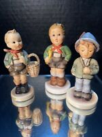 Vintage Hummel Figurine Goebel W Germany 3 Children in Alpine Dress