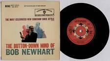 "BOB NEWHART ~ BUTTON-DOWN MIND OF BOB NEWHART ~ 1960 UK MONO 7"" EP + P/S [Ref.3]"