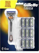 Gillette Fusion5 Proglide Lamette di Ricambio per Rasoio, 10 Testine e 1 Manico