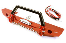 RC Car C26992RED Realistic Scale F Bumper w/LED Lights for Axial 1/10 SCX10 II