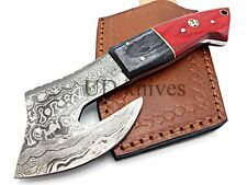 UD CUSTOM HANDMADE 1095 FIXED BLADE DAMASCUS FULL TANG HUNTER SKINNER KNIFE 787