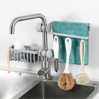 Kitchen Sink Faucet Sponge Cloth Soap Storage Rack Organizer Drain Hanging Shelf