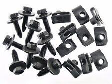 Chevy Body Bolts & U-nut Clips- M8-1.25mm x 30mm Long- 13mm Hex- 20 pcs- #154