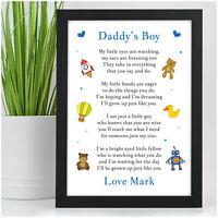 PERSONALISED Gifts from Son Little Boy BIRTHDAY Gifts for Daddy Dad Grandad Him