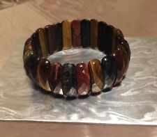 HSN Multi Tiger Eye Bracelet Stretch