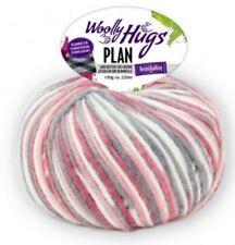 Plan 100g Woolly Hugs con el Karo-Effekt Color 81 Natural Gris Rosa Rosa Fucsia