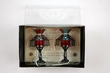 Pair of Concord Miniatures #4385 Dollhouse Lighted Lamp Fixtures NOS