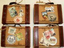 Miniature Vintage Look Luggage/Suitcase Christmas Ornament -Travel NWT