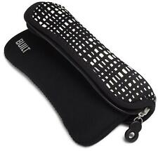 BUILT Reversible Neoprene Kindle Keyboard Sleeve, City Grid and Black (only fits