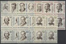 Germany Berlin 1957 Famous Berliners MNH Blocks of 4 High CV