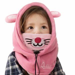 TRIWONDER children's fleece face mask neck warmer hood eyes From Japan