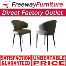 Clearance sale Fabric dining chair with iron legs dining furniture