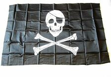 15 PIRATE FLAGS JOLLY ROGER PIRATES BANNER 3' X 5' SKULL CROSSBONES WITH PATCH