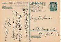 Postkarte verschickt von Leipzig nach Marburg aus dem Jahr 1929