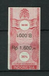Indonesia Revenue Stamp Fiscal Fiscal Fiscaux Taxpaid Cigarettes Banderol