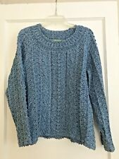XL Sigrid Olsen Muted Blue/Gray Sweater