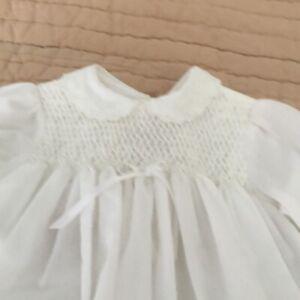 Sarah Louise England Smocked Newborn White Dress/Bloomers