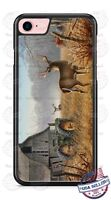 White Tail Deer Barn Tractor Phone Case for iPhone Samsung Google LG etc.