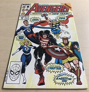 AVENGERS 300 (-9.4) 1ST NEW GILGAMESH FANTASTIC FOUR CAPTAIN AMERICA/1989 Marvel