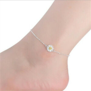 Free shipping fashion Silver Anklet Chrysanthemum Feet Chain Jewelry Gift