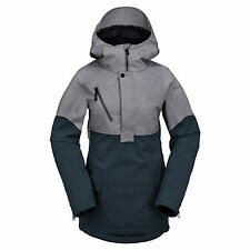 2017 NWT WOMENS VOLCOM SHIP STRETCH SNOWBOARD PULLOVER JACKET $210 S dark nav