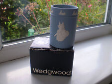 Wedgwood  Peter Rabbit Pencil Holder Boxed Blue Jasperware Rare