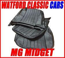 MG Midget / Sprite del sedile Calotte 1970 -1981 Effetto pelle Tutto Nero