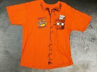 Chuck E Cheese Adult XL Employee Uniform TShirt Joe Orange Pizza 90s fun costume