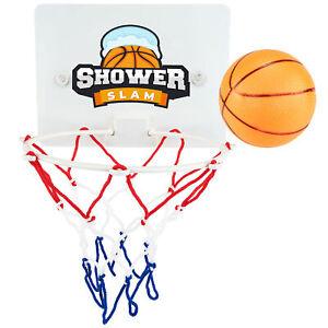 Shower Slam Basketball Game Set Bathroom Fun Ball Hoop Kids Bath Toy Sports Pack