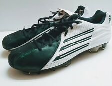 New Adidas Scorch Trx Mens Football Cleats Green and White w/tags Sz 12