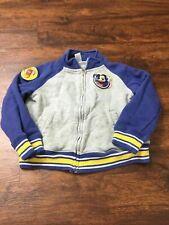 Disney Kid's Gray/Blue Full-Zip Long Sleeve Football Mickey Mouse Jacket Size 3T