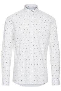 !Solid Herren Hemd Freizeithemd Langarm Shirt mit Muster und Kragen