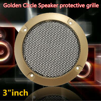 "1PC 3"" inch Golden Circle Black Net Speaker Decorative Circle-protective Grille"