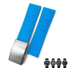 22 24 mm Blue Watch Band For Breitling Superocean Heritage Strap With Buckle