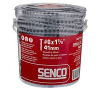 Senco 06A162P DuraSpin Number 6 by 1-5/8-Inch Drywall to Wood Collated Screw