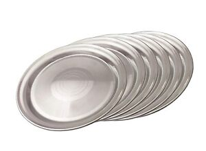 Stainless Steel Dinner Plates -6 Pieces High Quality Stainless Free shipping