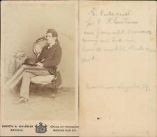 Sobotta & Schlösser, Breslau, Jeune homme nommé Fr. Gütrauer, 1869 CDV vintage a