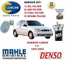DAEWOO LANOS 1.4 1997-2003 OIL AIR FUEL FILTER + SPARK PLUGS SERVICE KIT