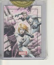 Marvel Heroes and Villains - Incentive Color Sketch card By AJ Tan - FF4