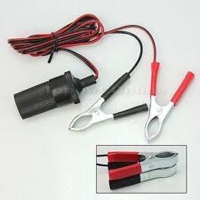 Prise Allume-Cigare12V avec 2Pinces Branchement Direct sur Batterie Auto Voiture