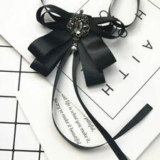 Ribbon Bow Neck Tie Women's Wedding Dress Shirt Blouse Ties Silk Bowties Collars