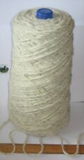 1100g cone 100% British undyed Swaledale Thick Chunky knitting wool Cream Grey