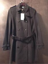 New Auth. Burberry Kensington Women Black Cashmere Coat Jacket 12 US 46 EU $1795