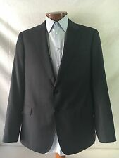 New Armani Collezioni 'S Line' Dk. Blue Striped Wool 2-Bt Suit 44R/W38 EU54R.